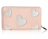 S-C4.3 PU Wallet with Hearts 19x11cm