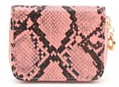 X-I9.1  WA321-001 Small Wallet Snakeskin Pink