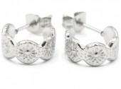 A-A18.4 E001-031 Stainless Steel Earrings 1cm Silver