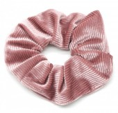 S-F2.2 H350-022B Rib Fabric Shiny Scrunchie Old Pink