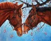 R-L3.1  GX559 Diamond Painting Set Horses 40x30cm