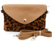 T-C2.2 BAG220-001 Shoulder Bag with Leopard Print Brown 21,5x13x5 cm