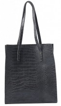 Y-C6.1 BAG417-003C PU Shopper Croco 33x29x10cm Grey