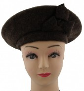 S-D6.2 Trendy Woolen Baret Dark Brown