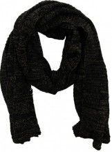 Y-A3.2 Scarf with Golden Glitters 60x180cm Black