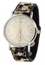 E-C2.2 W1202-002 PU Watch with Panter Print Brown
