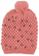 S-E8.1 Hat with Metal Stars Pink
