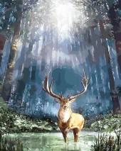 R-N7.1 GX1001 Diamond Painting Set Deer 40x30cm