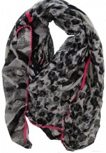 L-B6.1 Square Scarf 150x150cm with Animal Print