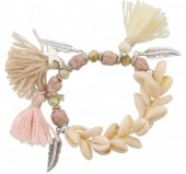 F-D20.3 B009-016 Boho Bracelet with Shells Star and Tassels