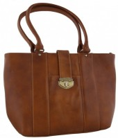 R-J1.1 BAGE Leather Bag 41x29x12cm Brown
