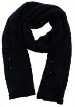 Y-C4.1 Knitted Scarf with Glitters 65x190cm Dark Blue