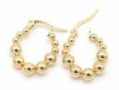 A-C15.2 E301-003 Stainless Steel Earrings 2cm Gold