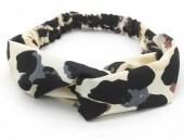 S-C7.2  H034-008 Headband with Animal Print Light Brown-Grey