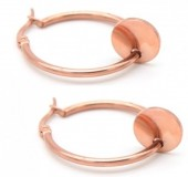 A-D20.6 E015-012 Stainless Steel Earrings 25mm Rose Gold