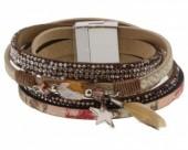 C-E11.3 Wrap bracelet 40cm with star B005-004