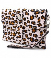 X-M8.2 WA220-008 Clutch with Panther Print and Star 18x12cm Light Pink