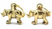 A-D5.2  E007-006G S. Steel 10mm Earring with 16mm Rhino Gold