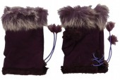 I-A9.1 Hand Warmers with Fur Purple