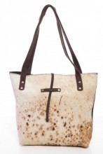 T-A6.1 Leather Shopper with Cowhide 38x31x8cm Mixed Colors