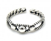 I-E24.8 SR104-224 925S Silver Ring Adjustable