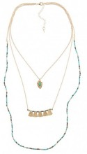 G-D14.1 Layered Necklace   52-59cm Gold