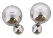 C-E1.2   Double Earrings Silver