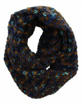 Y-A2.1 Knitted Winter Scarf Viscose Blue