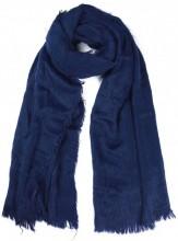K-B1.2 SCARF408-002B Soft Fluffy Scarf 65x180cm Blue