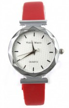 E-A3.3 Trendy Watch with PU Strap Red 25MM