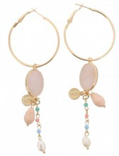 C-B21.1 E009-008 Earring with Semi Precious Stone 10cm