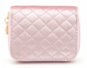 X-H8.2  WA321-003 Small Velvet Wallet Pink
