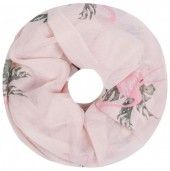R-J8.1 SC1801-009 Scarf with Glitters and Flamingo Col Pink