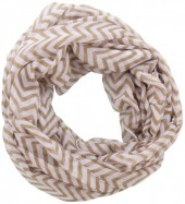 X-K1.2  Loop Scarf with Lines Brown