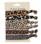 B-D3.3   Hairtie 6pcs H008-006 Leopard-Giraffe-Snake