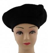S-D3.3 Trendy Woolen Baret Black