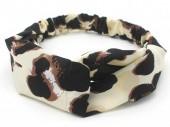 S-D4.2  H034-008 Headband with Animal Print Light Brown