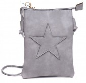 Q-A8.2 BAG012-003 PU Bag with Star 20x15cm Grey