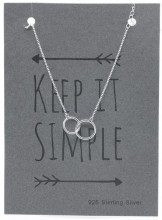 E-B18.3 B103-036 925 Sterling Silver Bracelet Circles