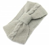 S-I7.4  H401-024B Soft Knitted Headband Grey