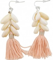 E-C3.5 E009-009 Light Pink Shells and Tassels