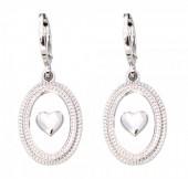 E-C6.2 E304-007 Metal Earrings Heart Silver