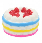 Squishy Toy Birthday Cake Multi Color