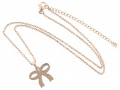 C-C7.9  41-48cm Stainless Steel Rose Gold N099-001A Bow