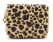 X-C3.2 WA321-002 Small Wallet with Leopard Print Brown