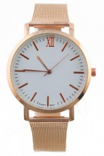 A-A16.6 Trendy Rose Gold Metal Watch 35mm