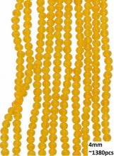 B-C19.2  Faceted Glass Beads 4mm About 1380pcs Transparant Orange