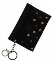 S-A3.1 WA1202-008 Keychain Wallet with Studs 13x9cm Black