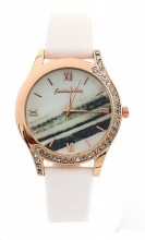 E-D5.4 W523-078 Quartz Watch 36mm with Crystals White
