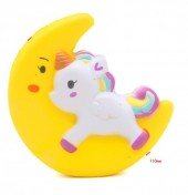Squishy Toy Unicorn Moon Yellow 11cm